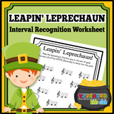 Leapin' Leprechauns St Patrick's Day Music Interval Recognition Worksheet