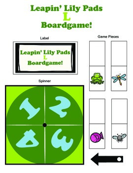 Leapin' Lily Pads /L/ Articulation Boardgame!