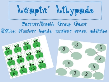 Leapin' Lilypads: Number Bonds Math Center