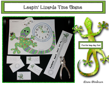 Leapin' Lizards Time Game! Great For Leap Day Too