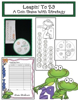 Leapin' To 29: A Money Math Game With Strategy! Great For Leap Day