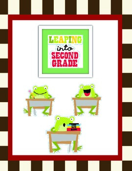 Leaping Frogs: Second Grade Bundle-Reading Posters and More