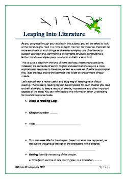 Leaping Into Literature