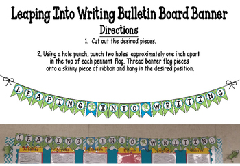 Leaping Into Writing Bulletin Board Banner