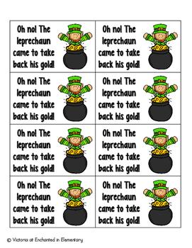 Leaping Leprechaun Phonics: Ending Digraphs Pack