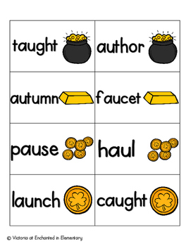 Leaping Leprechaun Phonics: Vowel Digraphs and Diphthongs Pack 2: aw, au, oi, oy