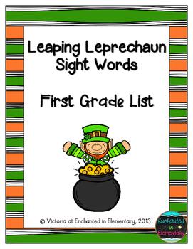 Leaping Leprechaun Sight Words! First Grade List Pack