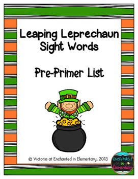 Leaping Leprechaun Sight Words! Pre-Primer List Pack