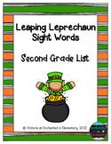 Leaping Leprechaun Sight Words! Second Grade List Pack