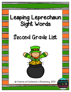 Leaping Leprechaun Sight Words! Second Grade List Pack