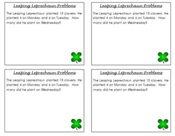 Leaping Leprechaun St. Patrick's Day Math Word Problems