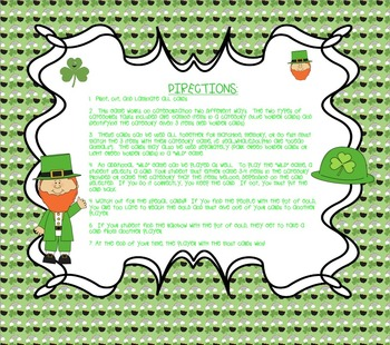 Leaping Leprechauns: Categories