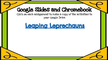 Leaping Leprechauns (Counting Sets 11-20)-A Digital Math Center (Google Apps)