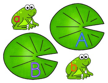Leaping Letters {matching uppercase to lowercase alphabet letters}