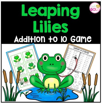 Leaping Lily- Addition to 10 Math Game