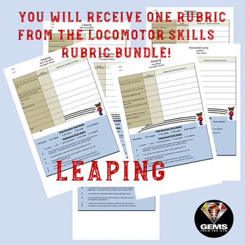 Leaping!  Skill Assessment Rubric!