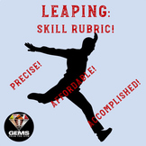 PE Rubric - Leaping!  Skill Assessment Rubric!
