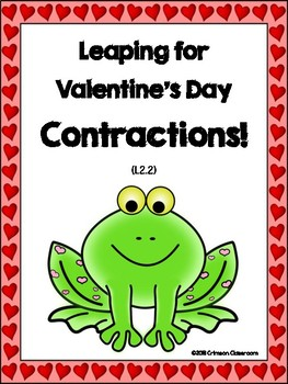 Leaping for Valentines Day Contractions by Crimson Classroom  TpT