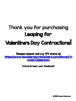 Leaping for Valentine's Day Contractions!