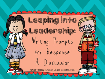 Leaping into Leadership Writing Prompt Freebie:  Leader Activities