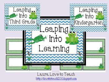 Leaping into Learning Bulletin Board