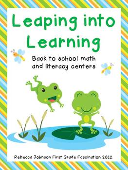 Leaping into Learning Math and Literacy Centers