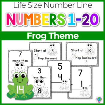 Number Lines: Adding and Subtracting within 20 Frogs