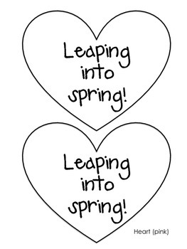 Leaping into spring! {a spring craftivity}