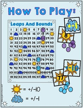 Leaps and Bounds: Add/Subtract Ten, Add/Subtract One On The Number Grid
