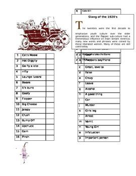 Learn 1920's American Slang