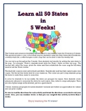 Learn 50 States 5 Weeks