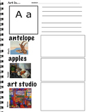 Art ABC's with Visual Art Examples (K-3, ESL) 26 pages, Art Lesson, Vocabulary