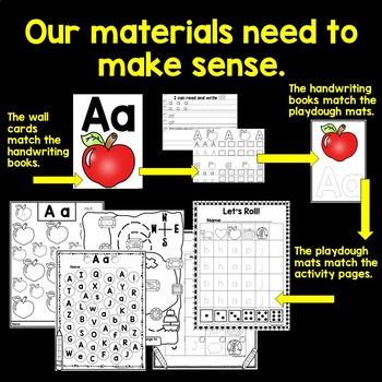 MATCH your Wall Cards, Handwriting Books, Alphabet, Phonics, Sight Words