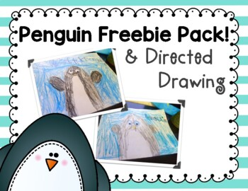 Penguin Directed Drawing and Learn About Penguins Freebie Pack