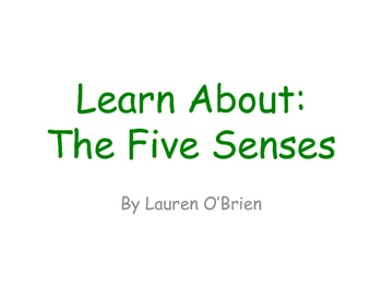 Learn About the Five Senses