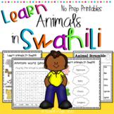 Learn Swahili : Animals