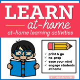 Learn At Home #2 (Engaging Activities for Home Learning) |