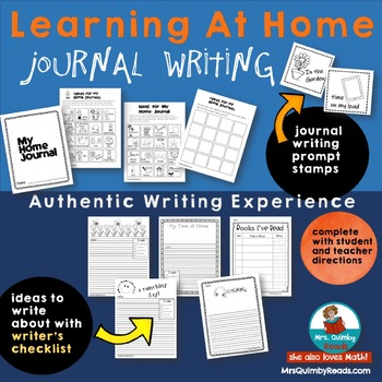 Distance Learning | Writing Journal | Primary Grades | Writing At Home