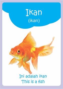 Learn Bahasa Indonesia - Animals Electronic FlashCard
