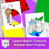 Funny Holes.  Learn Basic Colours with Animals.