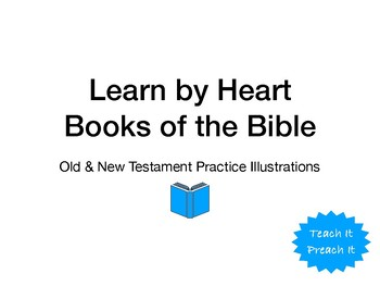 Learn By Heart Books of the Bible Practice Illustrations