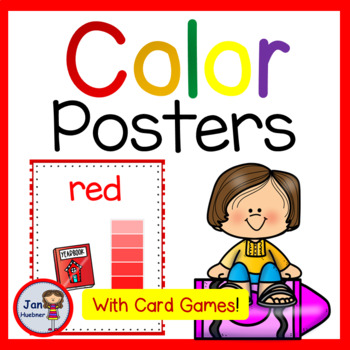 Learn Colors and Color Words Posters and Worksheets