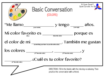 Learn Colors in Spanish!