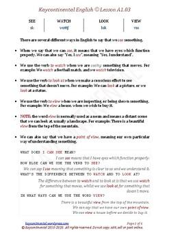 A1.03 - Vocabulary Mixed