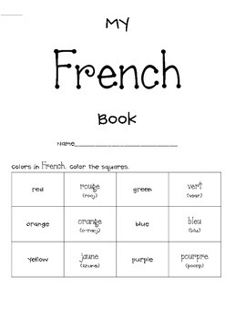 Learn French Mini Book