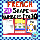 2D Shape Numbers Math Center Activity With FRENCH Number Names