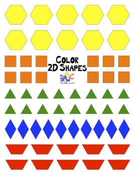 Shape Numbers 1 to 10 Math Worksheet Posters in French