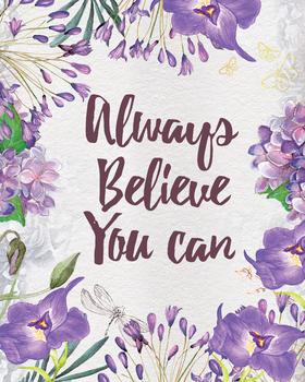 Always believe you can, printable teacher classroom gift a