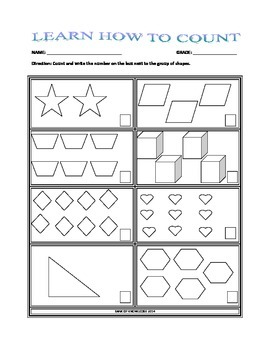 Learn How to Count with Shapes