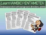 Learn Iambic Pentameter with Shakespeare Text (background, directions, activity)